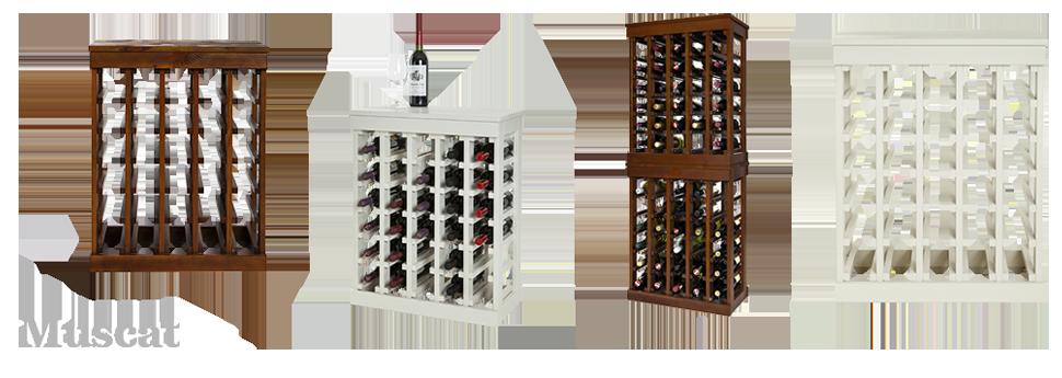 Beroemd Houten wijnrek Kabinett. Wijnrek zelf samenstellen | Webshop Domus  #DK57