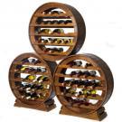 Wijnrekken Merlot zijn eenvoudig stapelbaar. De voet zit met maar 3 schroeven vast aan het rek en heeft u in een handomdraai los.