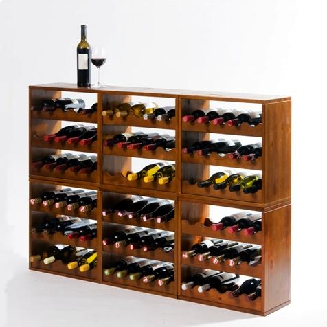 Wijnrekken Kabinett: stabiele en stapelbare wijnflessen rekken