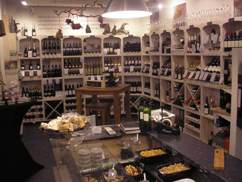 Wijnwand Kabinett: ook heel geschikt voor winkels